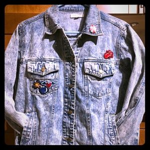 Woman's patched jean jacket
